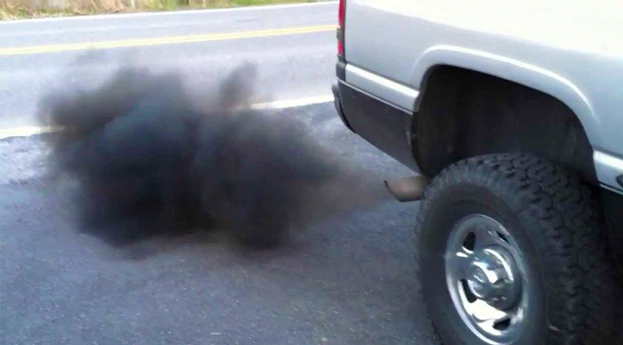 Black smoke from exhaust when accelerating