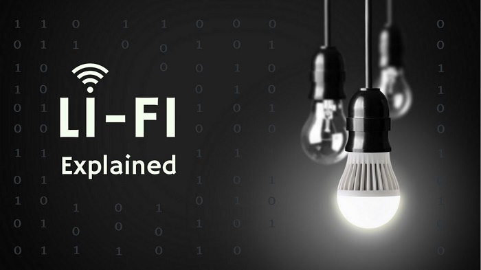 How will the internet signal be transmitted through a light bulb?