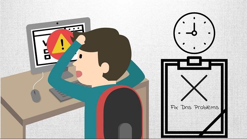 fix the DNS error